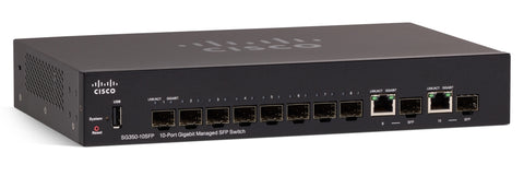 SG350-10SFP-K9-NA - Cisco SG350-10SFP 10-Port Gigabit Managed SFP Switch
