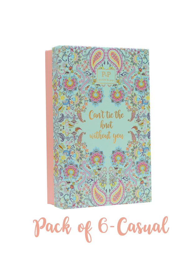 Bridesmaid pack of 6 - casual