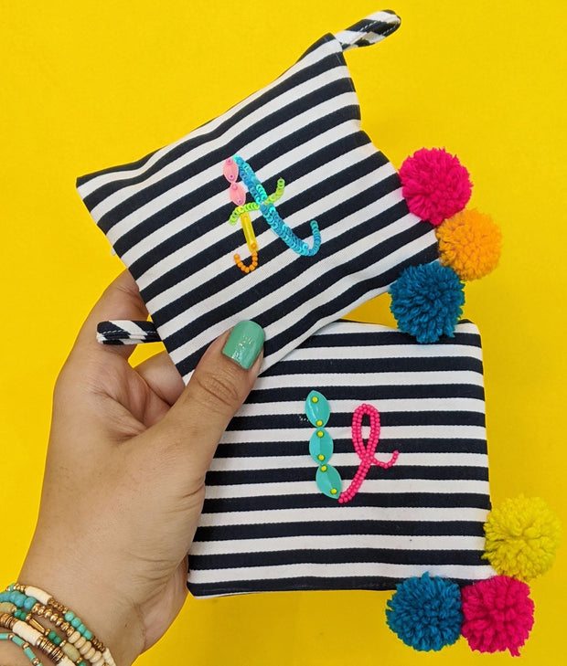 Free Monogrammed Pouch