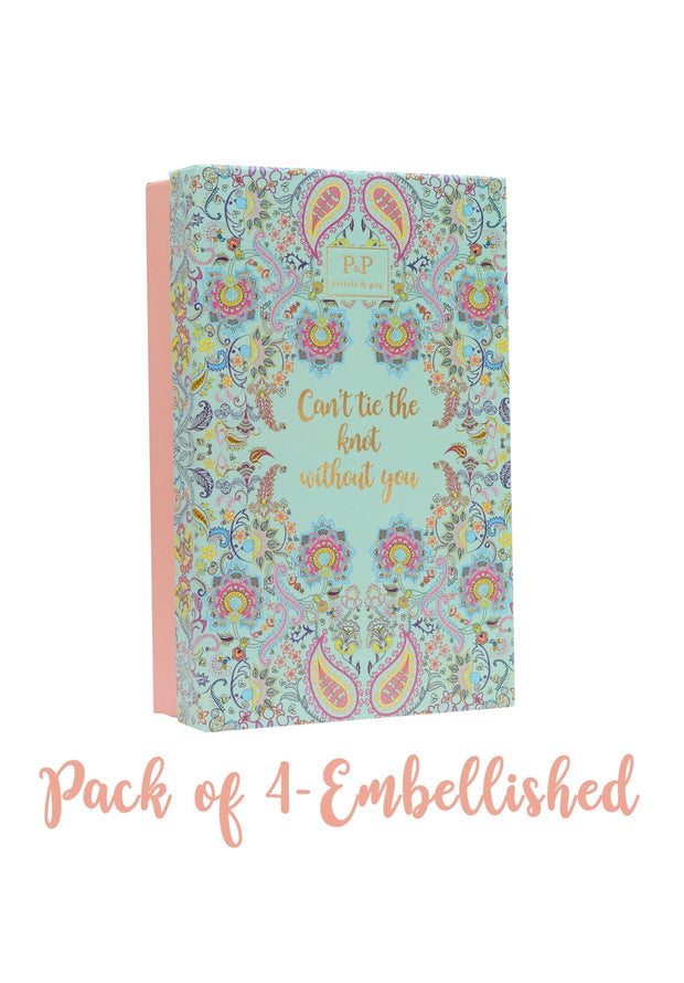 Bridesmaid pack of 4 - Embellished