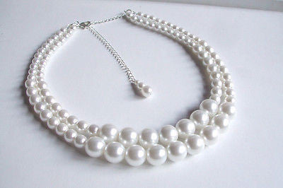 "LARGE PEARL BRIDAL CHOKER ""BREAKFAST AT TIFFANIES"" FROM SHEROCKSBRIDALJEWELLERY.COM"