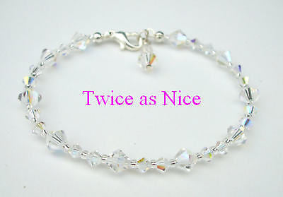 "SMALL AB SWAROVSKI CRYSTAL BRIDAL BRACELET ""BRIDE TO BE"" FROM SHEROCKSBRIDALJEWELLERY.COM"