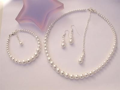 Classic bridesmaid Pearl jewelry set - Grace
