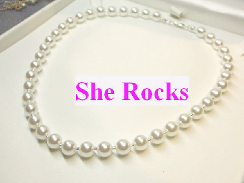 "LARGE PEARL NECKLACE ""AUDREY HEPBURN"""
