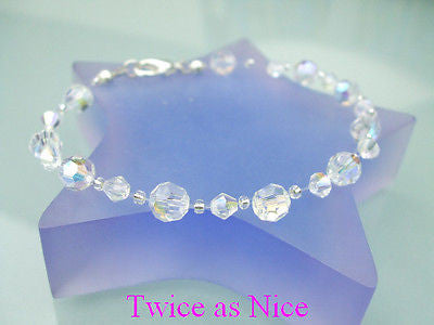 "AB SWAROVSKI CRYSTAL BRIDESMAID ILLUSION BRACELET ""BALLERINA"""