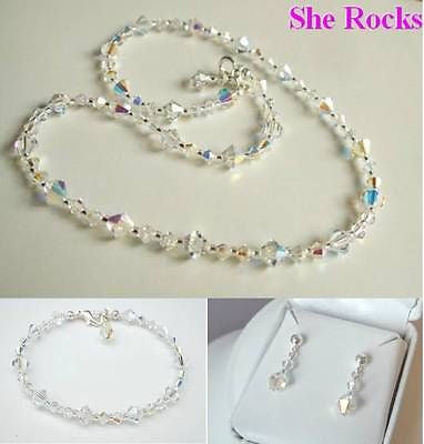 AB Swarovski jewelry set Bride to Be