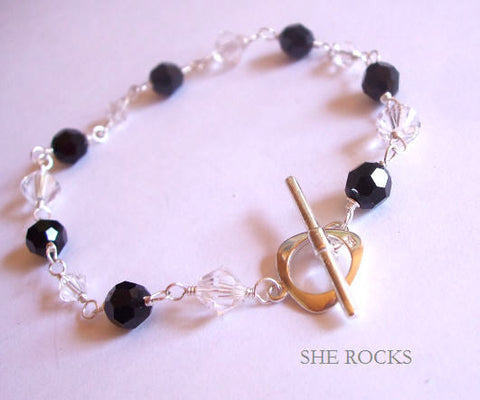 "SWAROVSKI CRYSTAL BRIDESMAID BRACELET ""CHARMING"" -Bespoke colours"