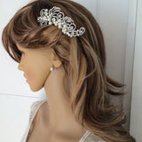 "VINTAGE STYLE DIAMANTE AND PEARL BRIDAL HAIR COMB  ""GATSBY"""