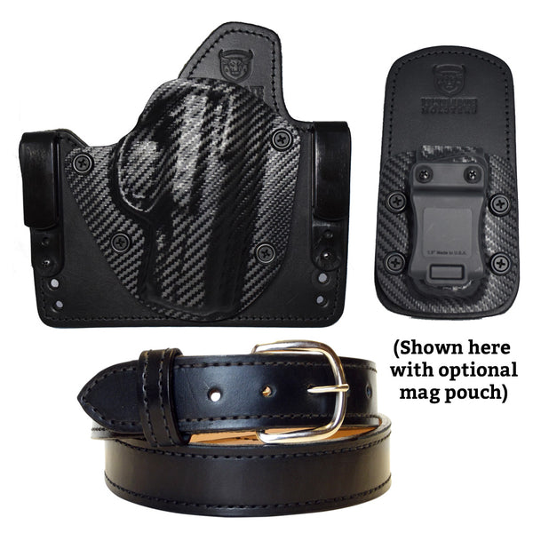 Ultimate Concealed Carry Package - Cloud Tuck Hybrid Holster and Leather Gun Belt Combo