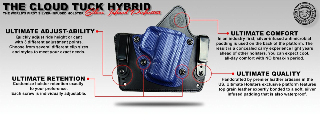 Cloud Tuck - Best IWB Hybrid Holster- Silver Infused