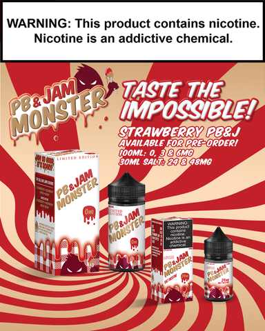 PB & Jam Monster Strawberry - Trade N Vape - Cheap vape - Jam Monster - usa - in stock - vapor - vaping
