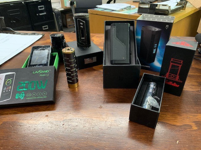 Vape lot (Digiflavor, Tugboat, Kennady, Uwell, DNA, Lmtless, Indulgence, Coil art, Smok, & more
