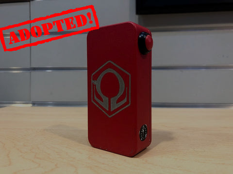 Red Powder Coat HexOhm 3.0 *used* - Trade N Vape - Cheap vape - Craving Vapor - usa - in stock - vapor - vaping