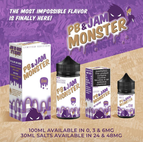 PB & Jam Monster Grape - Trade N Vape - Cheap vape - Jam Monster - usa - in stock - vapor - vaping
