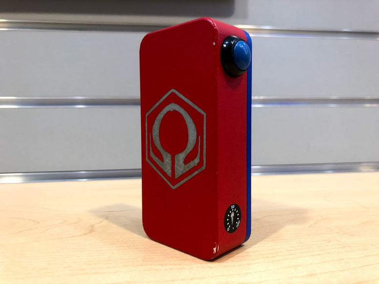 Red w/Blue Door and Button Powder Coat HexOhm 3.0 *used* - Trade N Vape - Cheap vape - Craving Vapor - usa - in stock - vapor - vaping