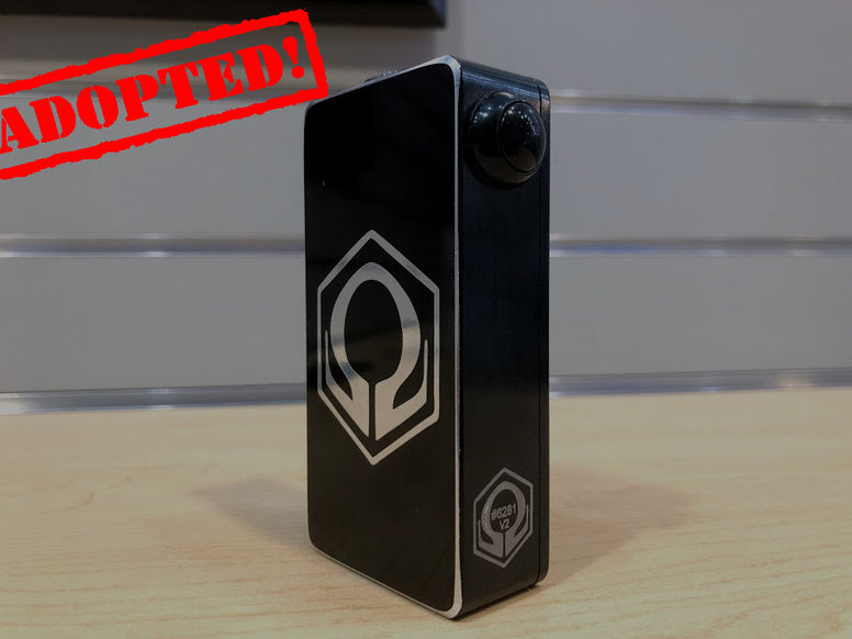 Distressed Mirror Finish Black HexOhm 2.1 *used* - Trade N Vape - Cheap vape - Craving Vapor - usa - in stock - vapor - vaping