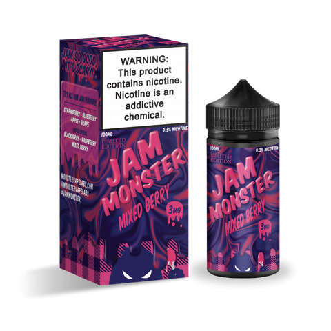 Jam Monster - Mixed Berry Limited Edition - Trade N Vape - Cheap vape - Jam Monster - usa - in stock - vapor - vaping