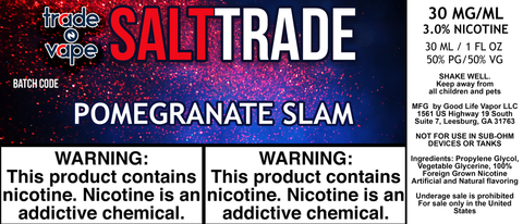Pomegranate Raspberry Slam Salt Trade - Trade N Vape - Cheap vape - Trade N Vape - usa - in stock - vapor - vaping