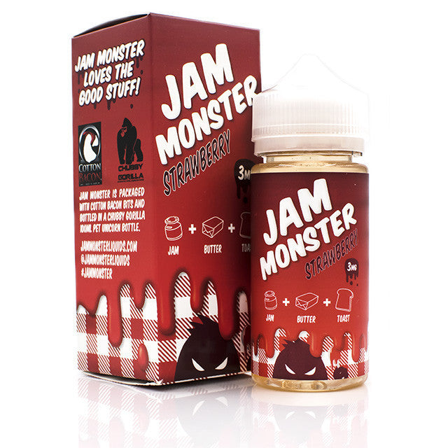 Jam Monster - Strawberry - Trade N Vape - Cheap vape - Jam Monster - usa - in stock - vapor - vaping