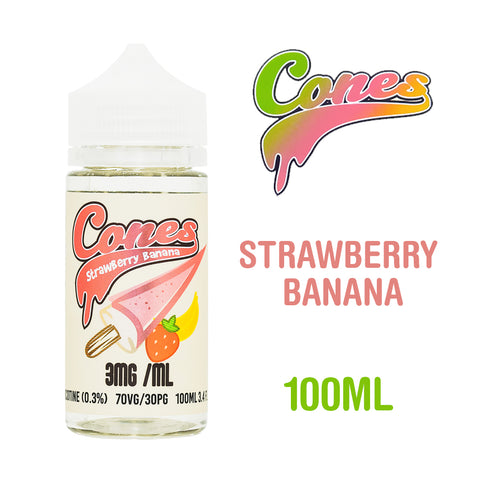 Strawberry Banana - Cones