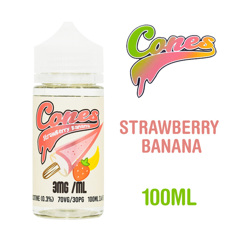 Strawberry Banana - Cones - Trade N Vape - Cheap vape - Rounds - usa - in stock - vapor - vaping