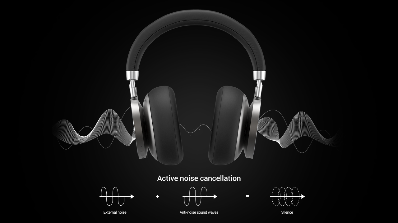Active noise cancellation in headphones