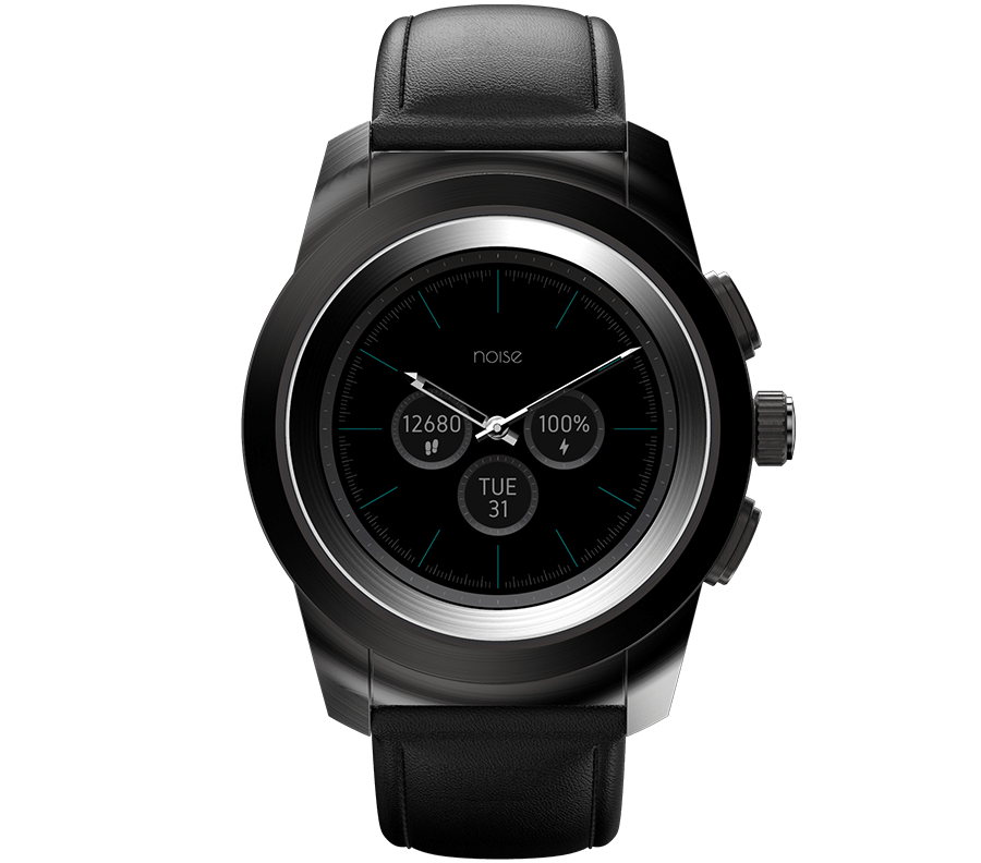 Noisefit Fusion Hybrid Smart Watch Classic Black Product image