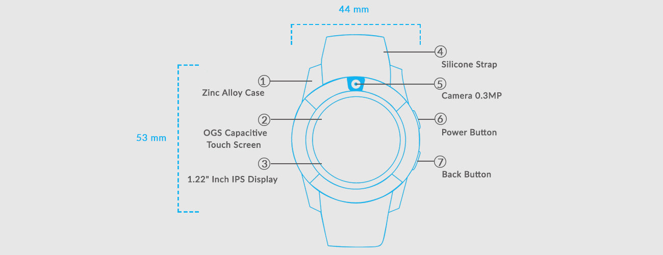 Noise Turbo Smart Watch For Android Smartphone     Gonoise