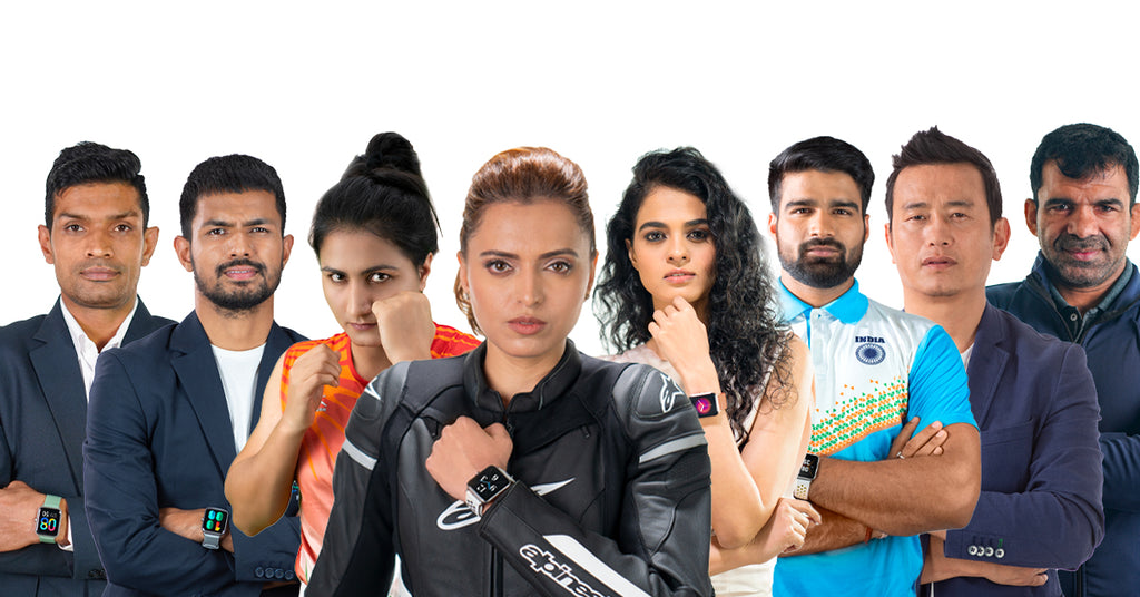 Indian Athletes with Noise Smartwatch