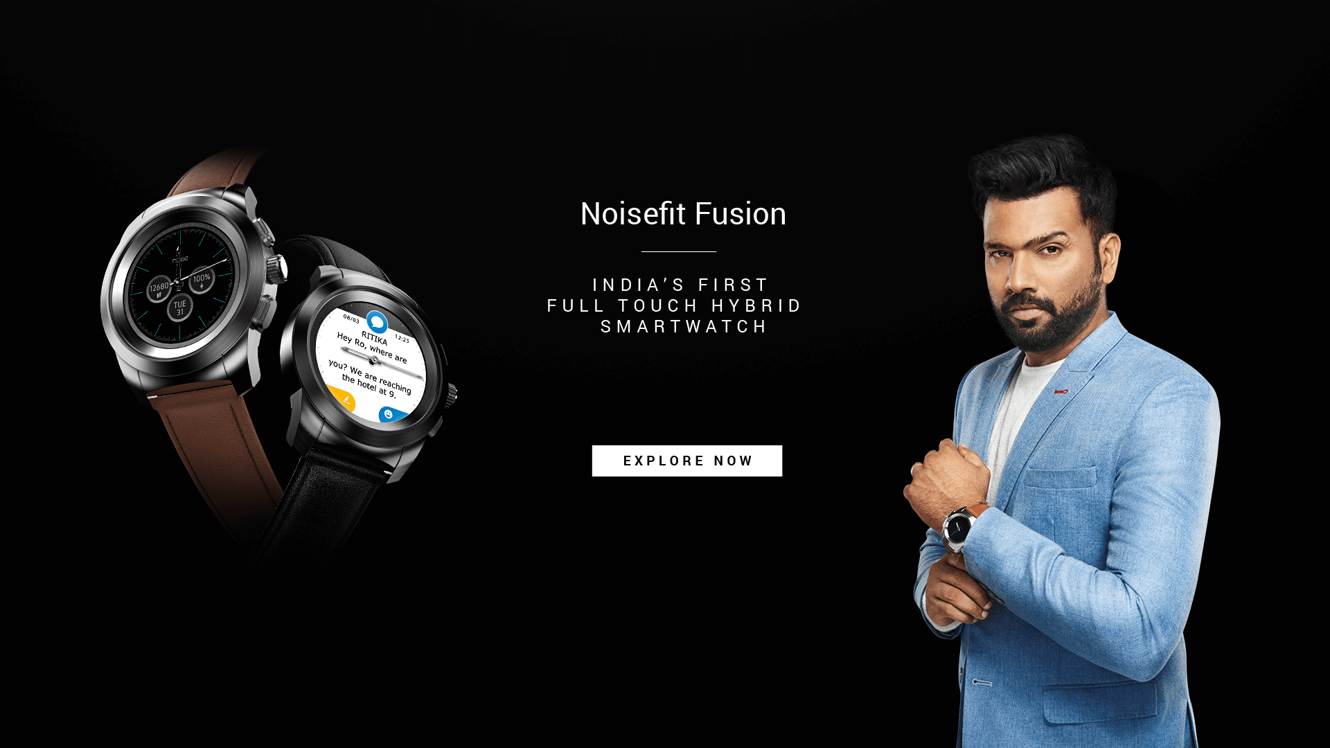 NoiseFit Fusion Hybrid Watch Desktop Banner