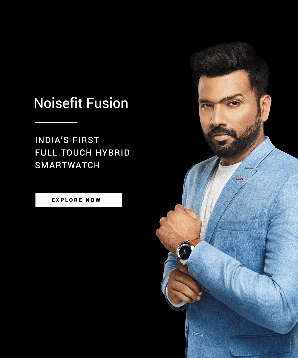 NoiseFit Fusion Hybrid Watch Mobile Banner