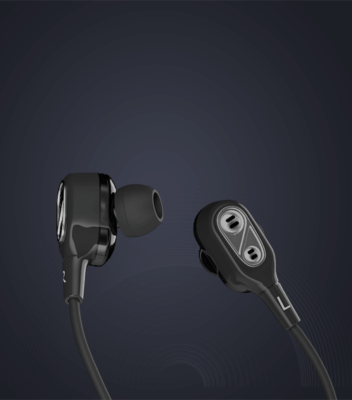 Noise TuneDUO dual driver Bluetooth Wireless Earphones with Mic (Midnight  Black)