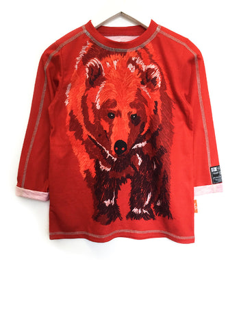 Grizzly Bear Tee - Fiery Red