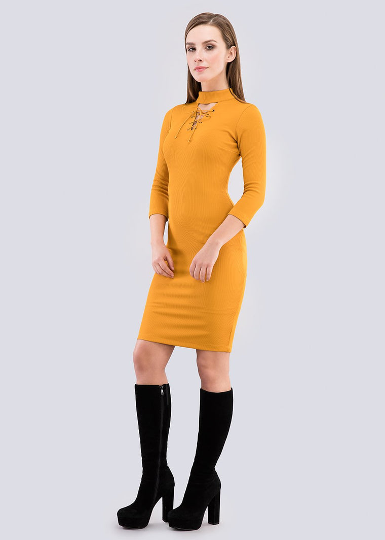 GFLOCK - [product_sku] - Women_Dresses - Lace up bodycon dress