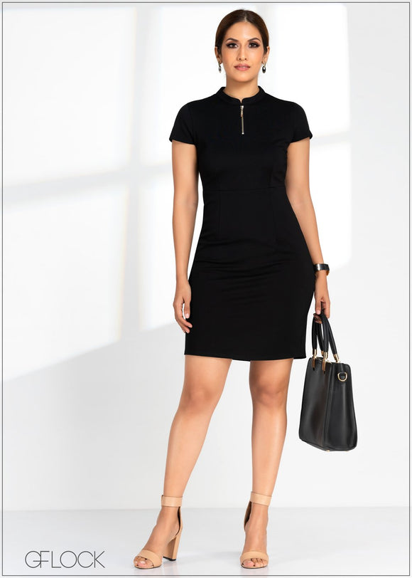 GFLOCK - [product_sku] - Women_Dresses - Zip Detail Bodycon Dress