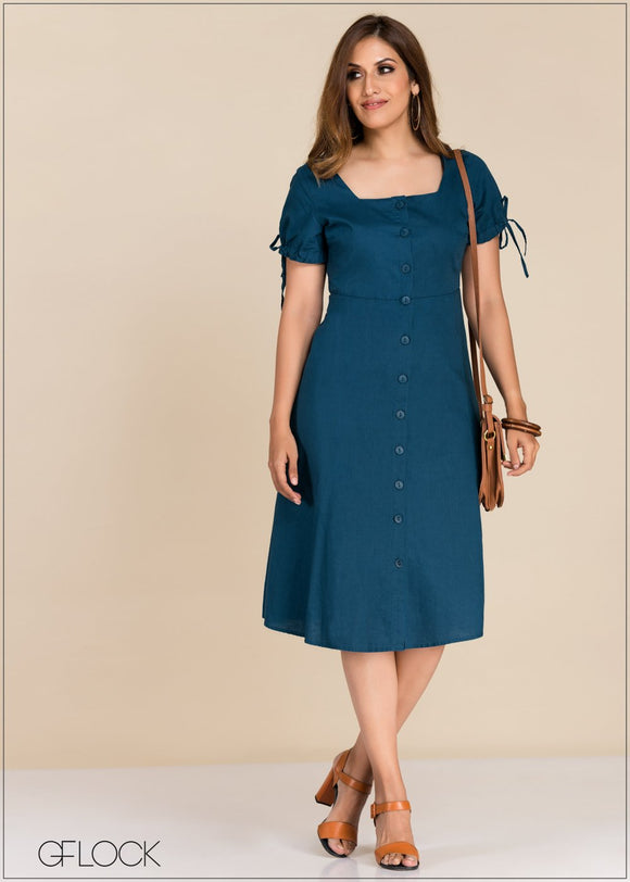GFLOCK - [product_sku] - Women_Dresses - Sleeve Tie Detailed Dress
