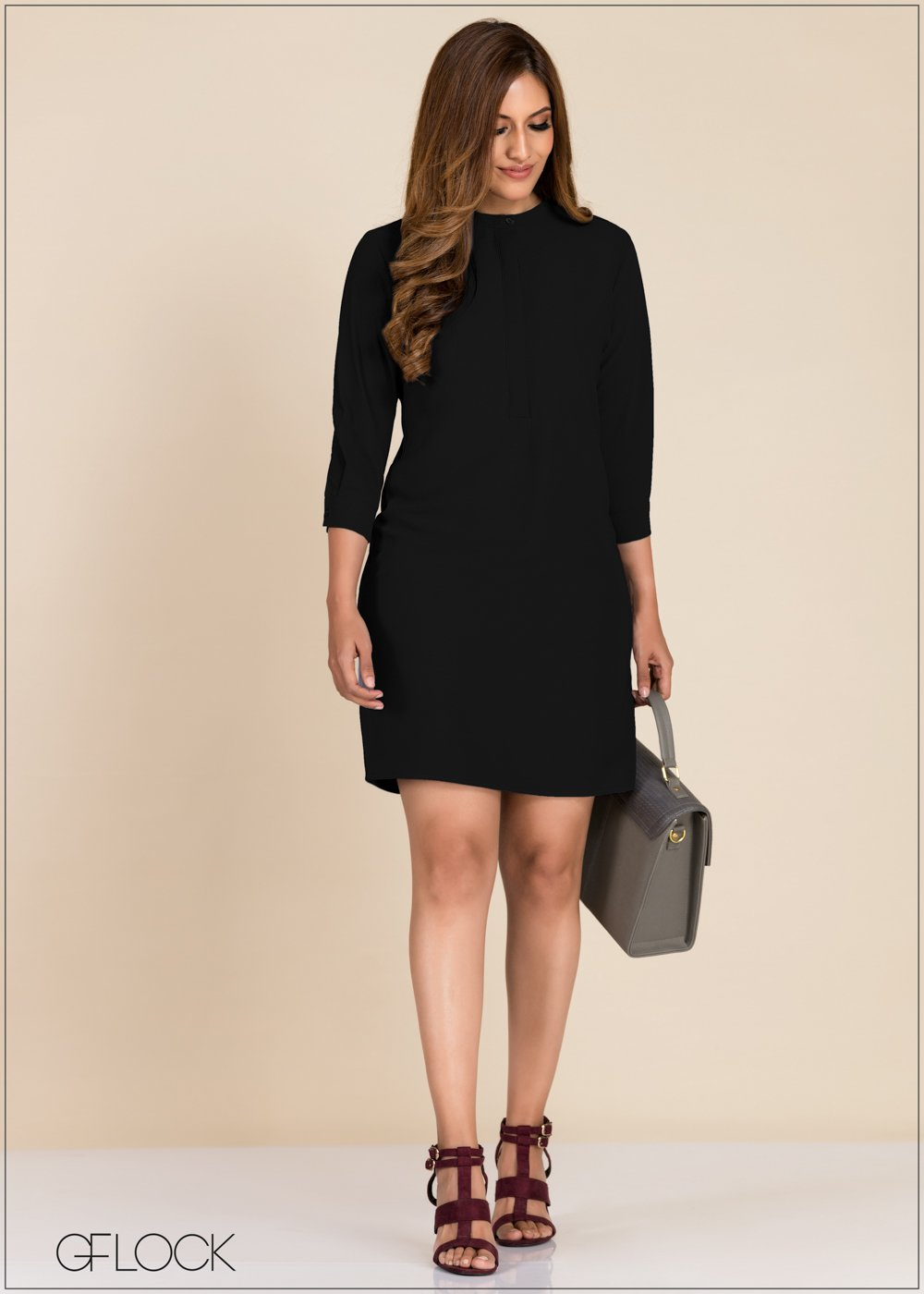 Solid Workwear Dress