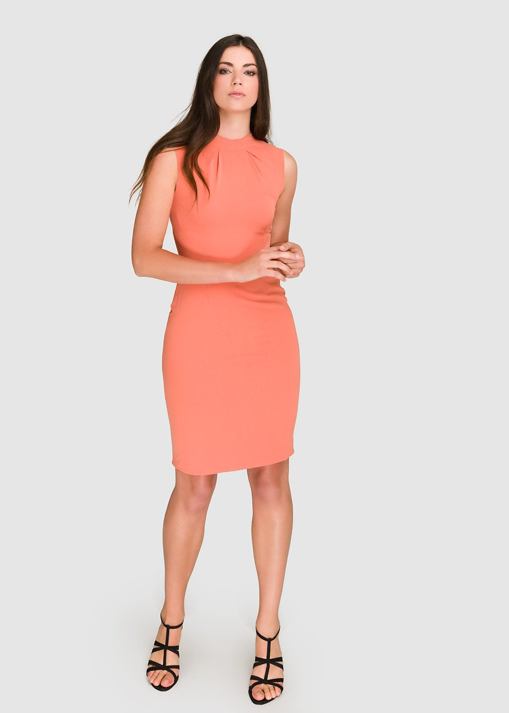 Pleat Detail Bodycon  Work Wear Dress
