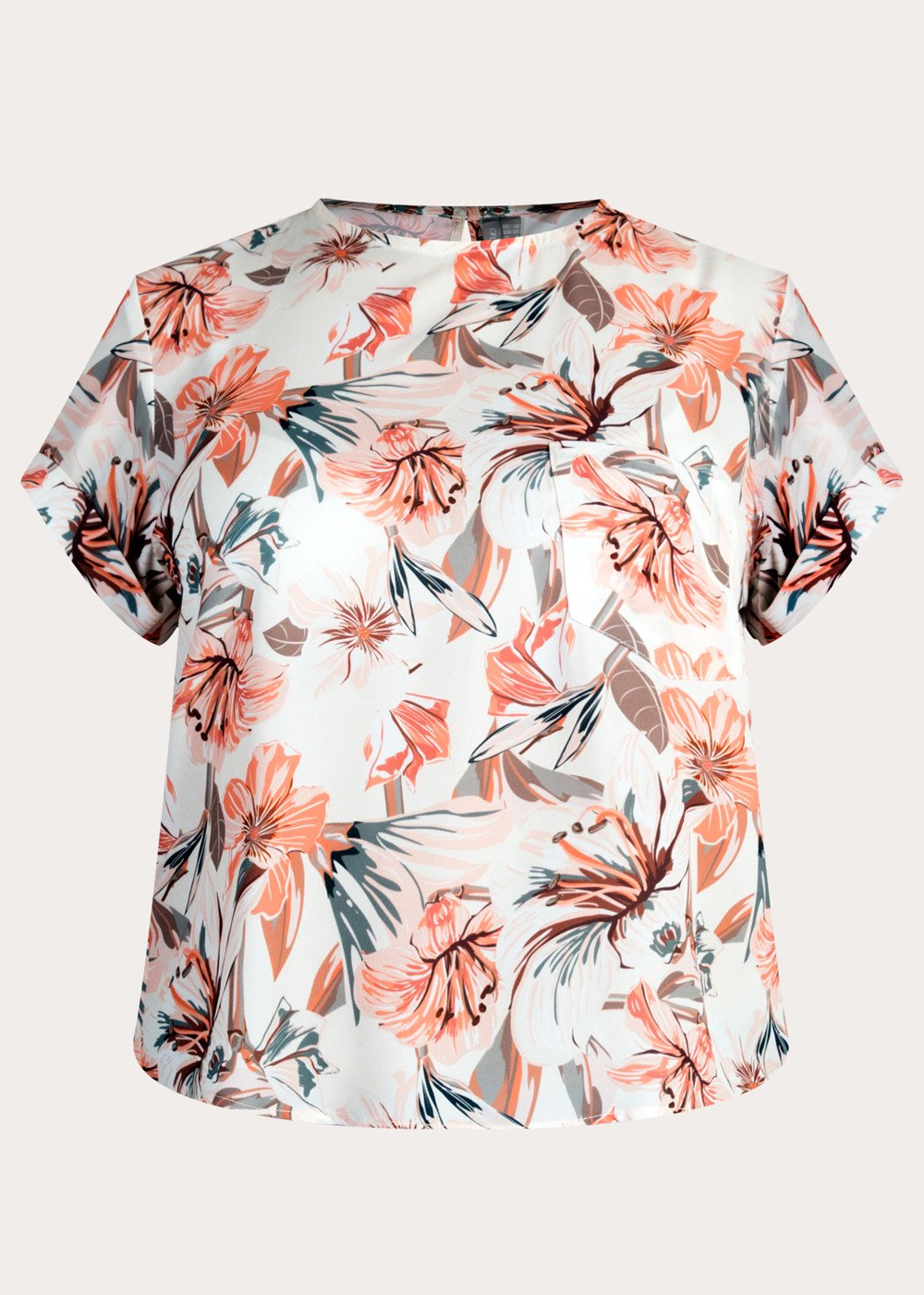 GFLOCK - [product_sku] - Women_Top - Tropical Printed Pocket Top