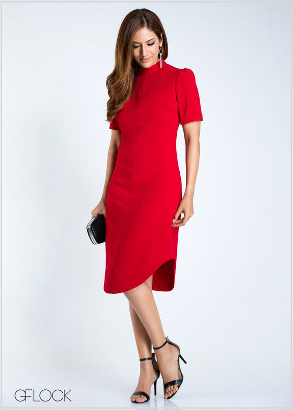 GFLOCK - [product_sku] - Women_Dresses - High Neck Solid Dress