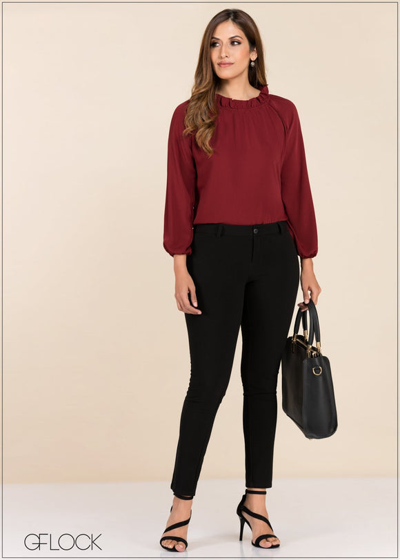 Gather Neck Detail Top