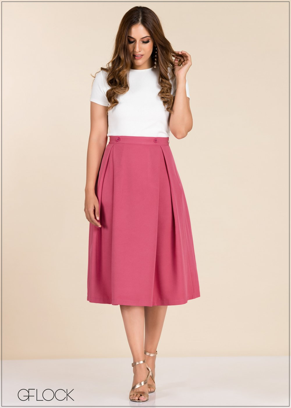 GFLOCK - [product_sku] - Women_Skirts - Button Detailed Skirt