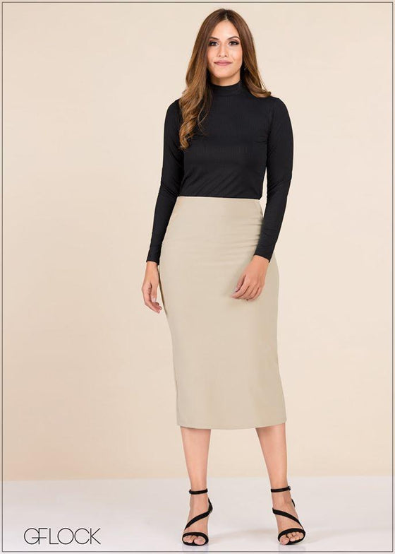 GFLOCK - [product_sku] - Women_Skirts - Skirt With Sateen Panel