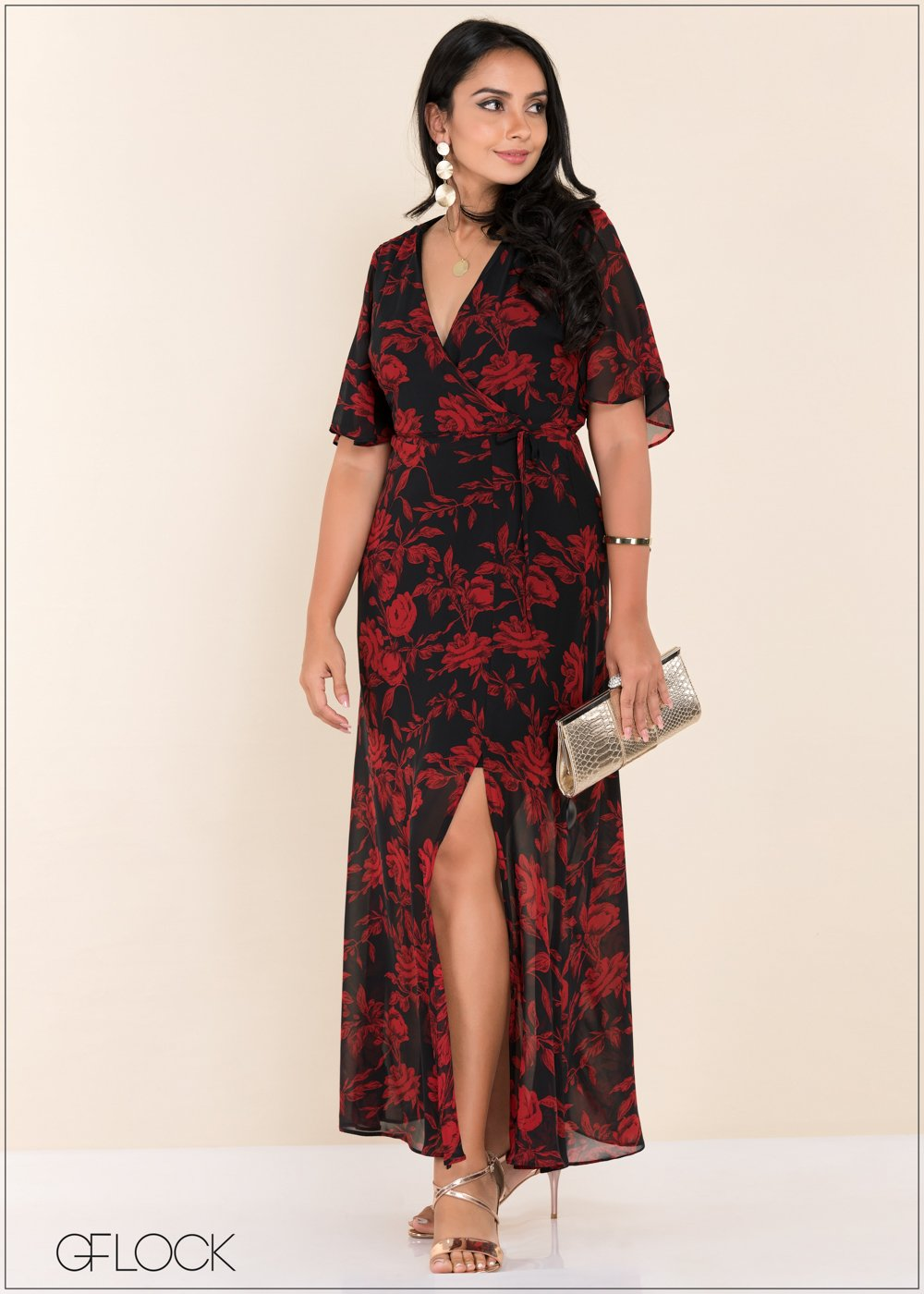 GFLOCK - [product_sku] - Women_Dresses - Side Slit printed Maxi Dress