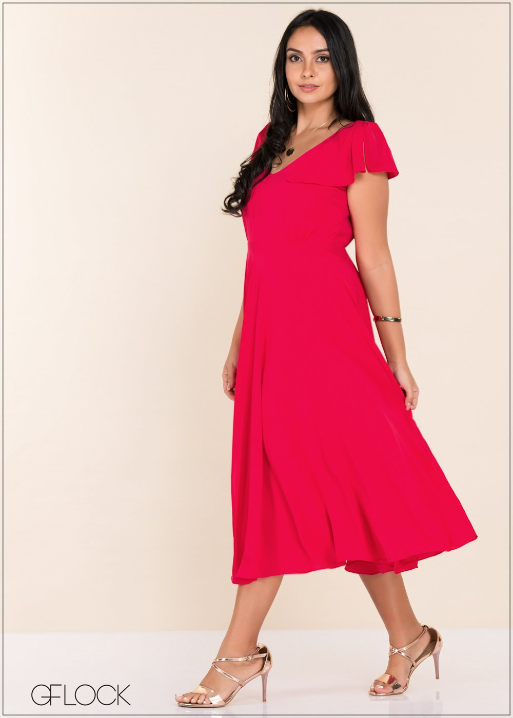 GFLOCK - [product_sku] - Women_Dresses - High Low Flared Sleeve Dress