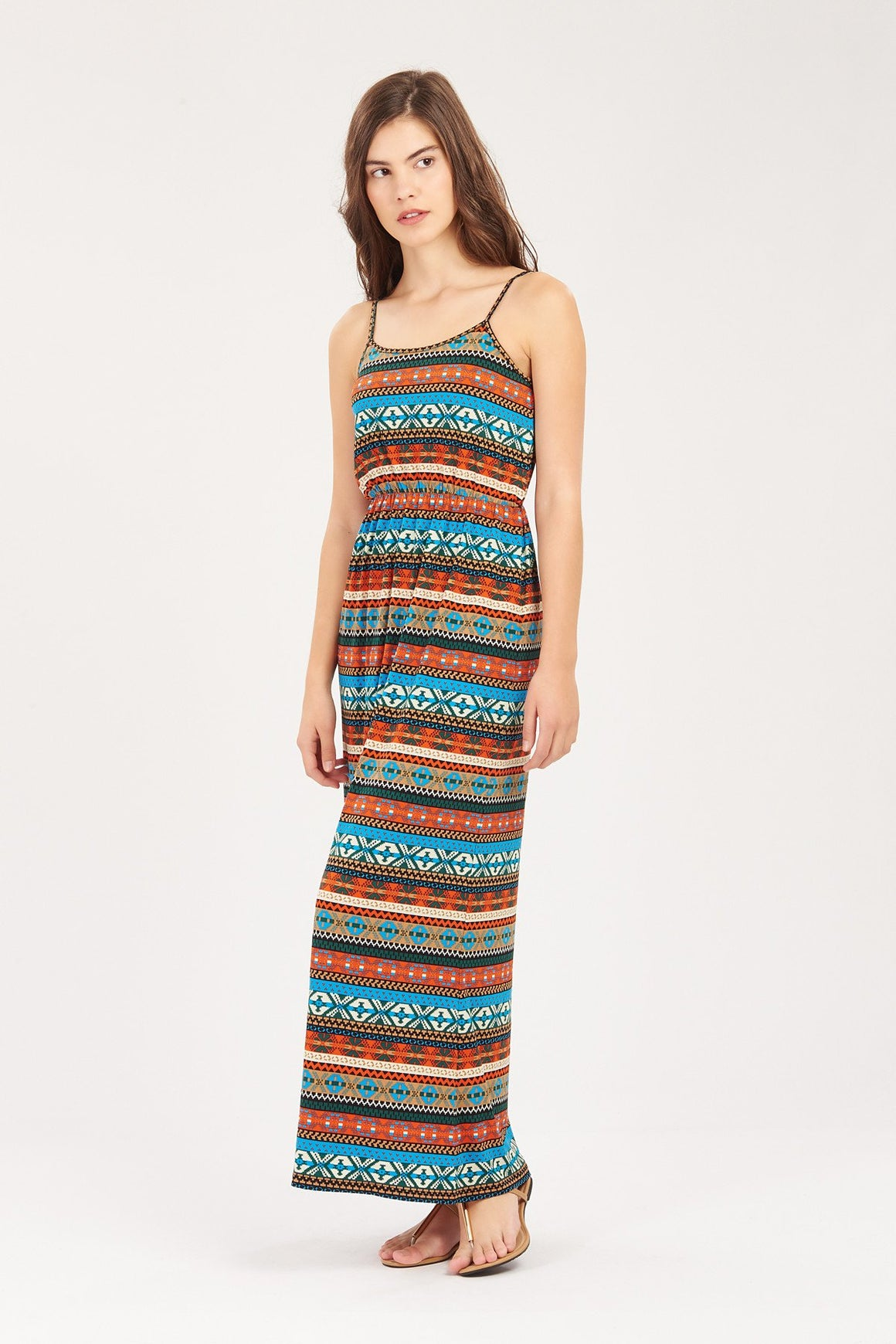 GFLOCK - [product_sku] - Women_Dresses - Tribal Striped Maxi Dress