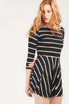 GFLOCK - [product_sku] - Women_Dresses - stripe three quarter sleeve dress