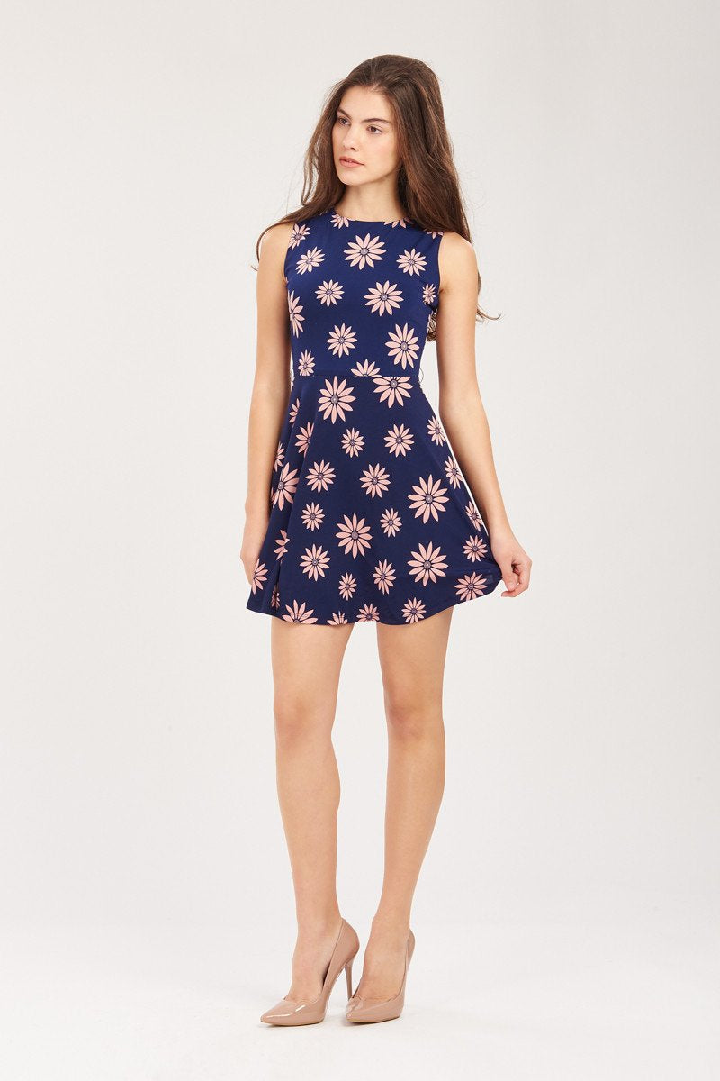 GFLOCK - [product_sku] - Women_Dresses - Floral Printed Skater Dress