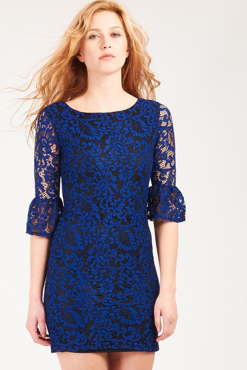 GFLOCK - [product_sku] - Women_Dresses - Lace Flared Sleeve Dress