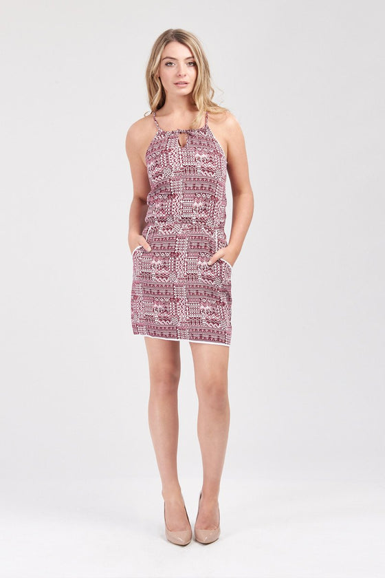 GFLOCK - [product_sku] - Women_Dresses - Abstract Print Strappy Dress